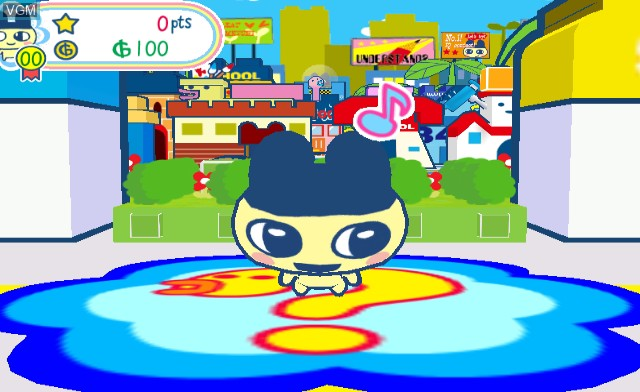 In-game screen of the game Tamagotchi Party On! on Nintendo Wii