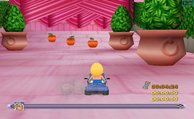 In-game screen of the game Action Girlz Racing on Nintendo Wii