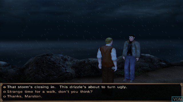 In-game screen of the game Agatha Christie - And Then There Were None on Nintendo Wii
