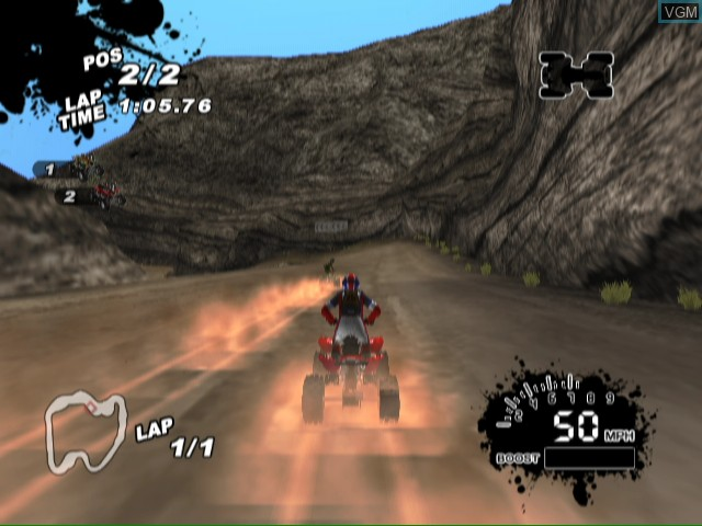 In-game screen of the game SCORE International Baja 1000 - World Championship Off Road Racing on Nintendo Wii