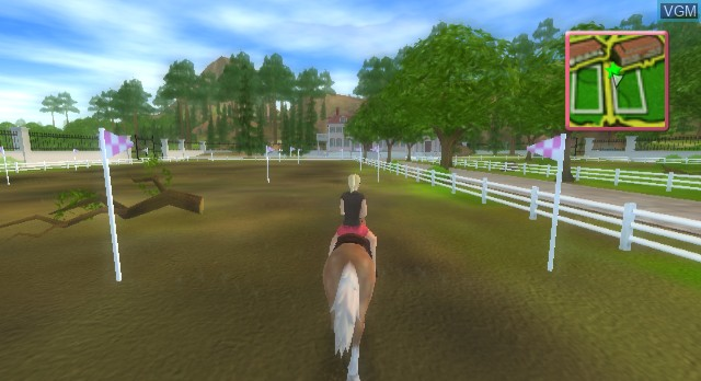 In-game screen of the game Barbie Horse Adventures - Riding Camp on Nintendo Wii