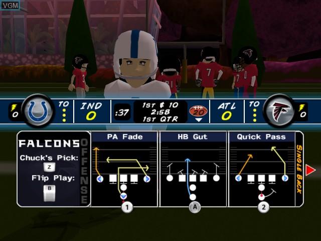 In-game screen of the game Backyard Football '09 on Nintendo Wii