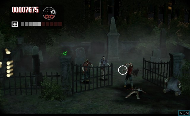 In-game screen of the game House of the Dead - Overkill on Nintendo Wii