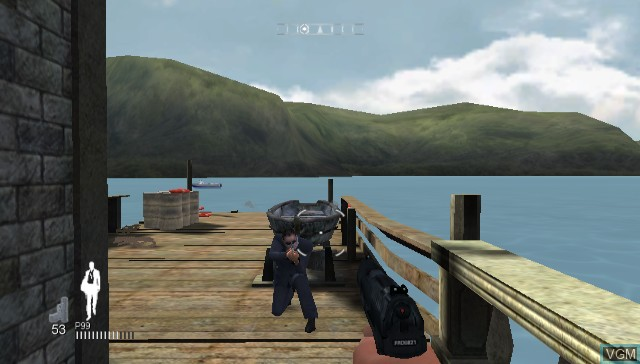 In-game screen of the game 007 - Quantum of Solace on Nintendo Wii