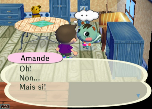 In-game screen of the game Animal Crossing - City Folk on Nintendo Wii