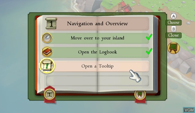 In-game screen of the game ANNO - Create a New World on Nintendo Wii