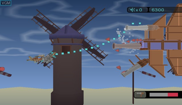 In-game screen of the game Blast Works - Build, Trade, Destroy on Nintendo Wii