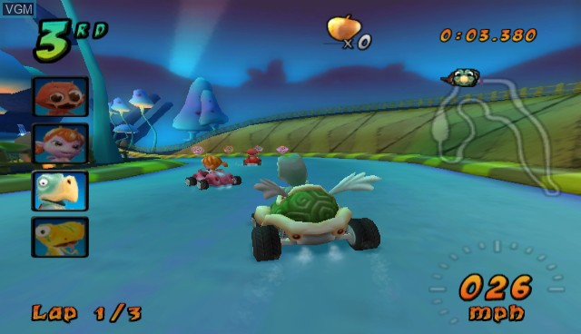 In-game screen of the game Cocoto Kart Racer on Nintendo Wii