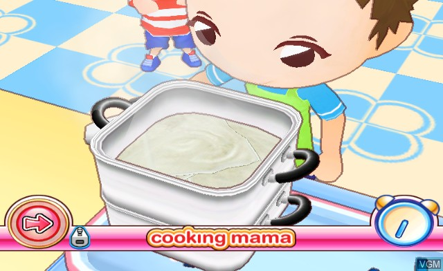 In-game screen of the game Cooking Mama - World Kitchen on Nintendo Wii