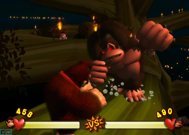 In-game screen of the game Donkey Kong Jungle Beat on Nintendo Wii