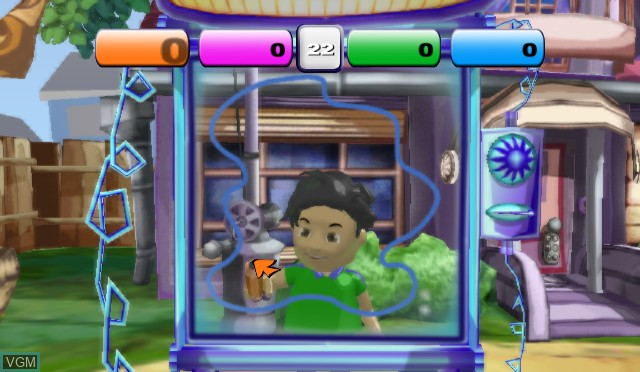 In-game screen of the game Block Party on Nintendo Wii