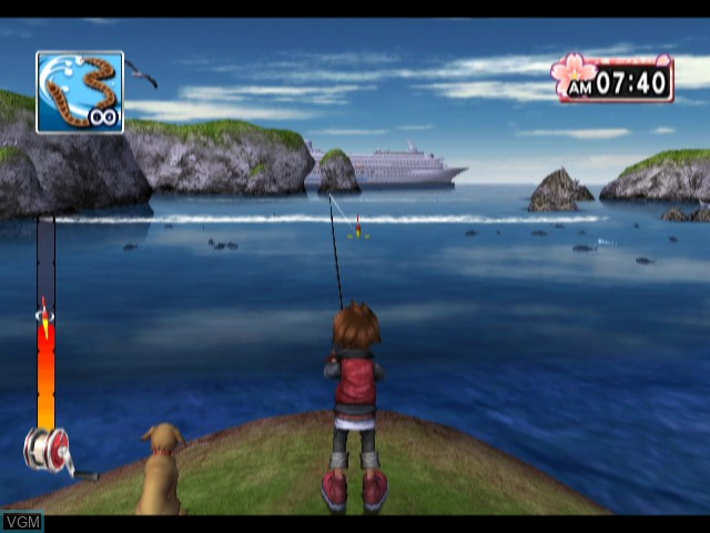 In-game screen of the game Fishing Master World Tour on Nintendo Wii