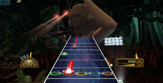 In-game screen of the game Guitar Hero - Greatest Hits on Nintendo Wii
