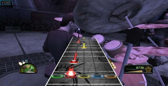 In-game screen of the game Guitar Hero - Metallica on Nintendo Wii