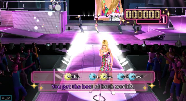 In-game screen of the game Hannah Montana - The Movie on Nintendo Wii