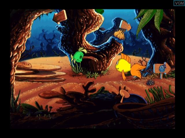 In-game screen of the game Freddi Fish in Kelp Seed Mystery on Nintendo Wii