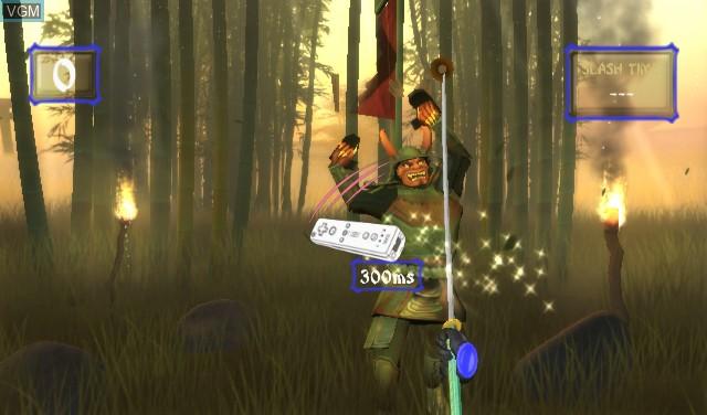 In-game screen of the game Ninja Reflex on Nintendo Wii