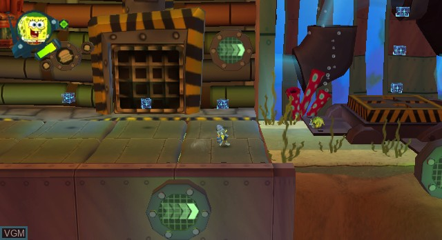 In-game screen of the game Nicktoons - Attack of the Toybots on Nintendo Wii