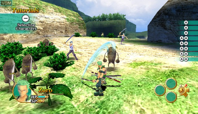 In-game screen of the game One Piece Unlimited Cruise 1 - The Treasure Beneath the Waves on Nintendo Wii