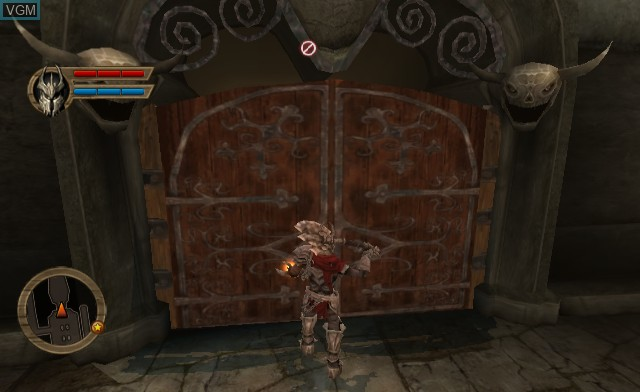 In-game screen of the game Overlord - Dark Legend on Nintendo Wii