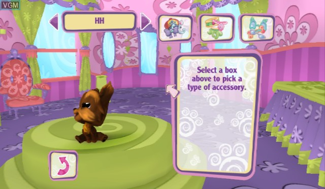 In-game screen of the game Littlest Pet Shop on Nintendo Wii