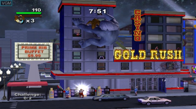 In-game screen of the game Rampage - Total Destruction on Nintendo Wii