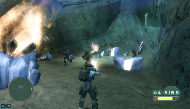 In-game screen of the game Rogue Trooper - Quartz Zone Massacre on Nintendo Wii