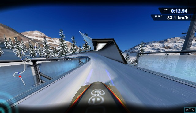 In-game screen of the game RTL Winter Sports 2008 on Nintendo Wii