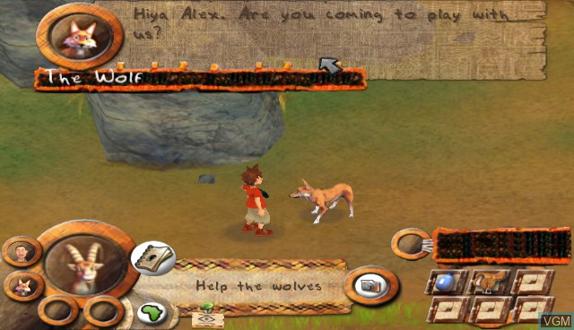 In-game screen of the game Safari Adventures Afrique on Nintendo Wii