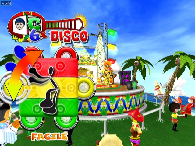 In-game screen of the game Samba de Amigo on Nintendo Wii