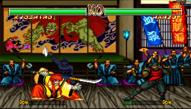 In-game screen of the game Samurai Shodown Anthology on Nintendo Wii