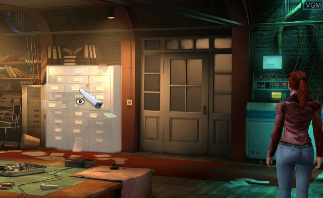 In-game screen of the game Secret Files - Tunguska on Nintendo Wii