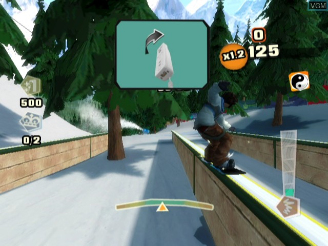 In-game screen of the game Shaun White Snowboarding - Road Trip on Nintendo Wii