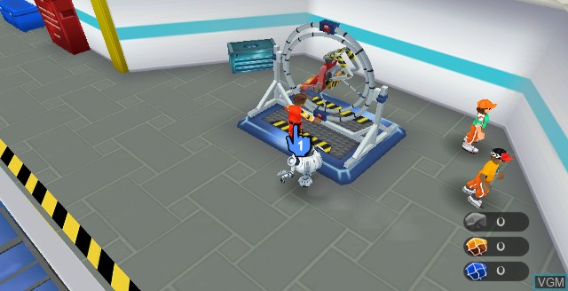 In-game screen of the game Space Camp on Nintendo Wii