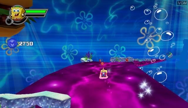 In-game screen of the game SpongeBob SquarePants featuring Nicktoons - Globs of Doom on Nintendo Wii