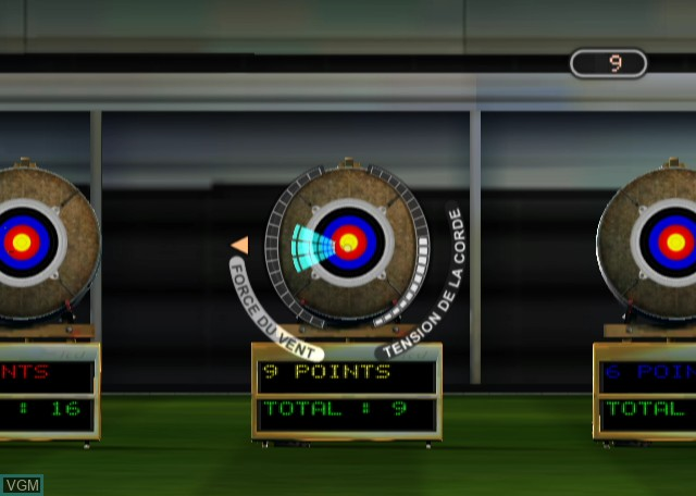 In-game screen of the game Summer Athletics 2009 on Nintendo Wii