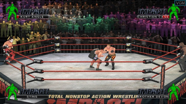 In-game screen of the game TNA iMPACT! on Nintendo Wii