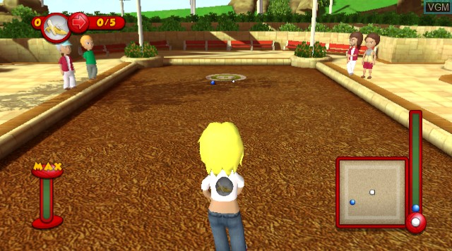 In-game screen of the game World Sports Party on Nintendo Wii