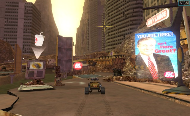 In-game screen of the game WALL-E on Nintendo Wii