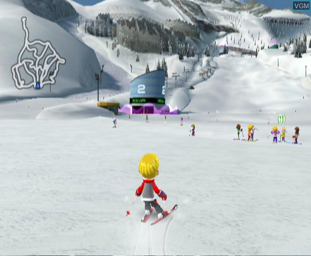 In-game screen of the game We Ski on Nintendo Wii