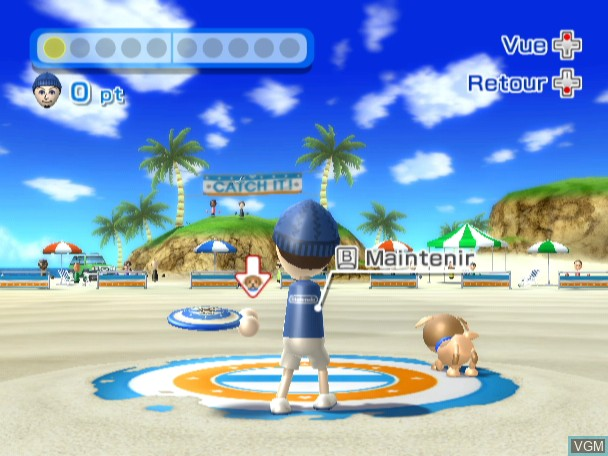 In-game screen of the game Wii Sports Resort on Nintendo Wii