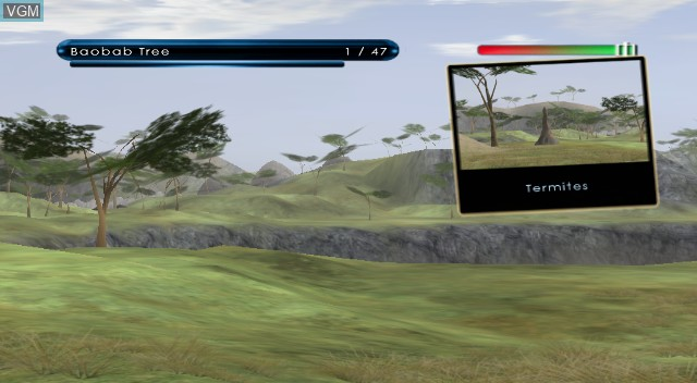 In-game screen of the game Wild Earth - African Safari on Nintendo Wii