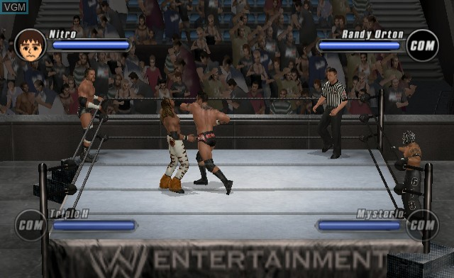 In-game screen of the game WWE SmackDown vs. Raw 2008 on Nintendo Wii