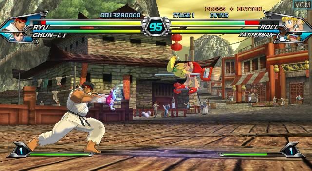 In-game screen of the game Tatsunoko Vs. Capcom on Nintendo Wii