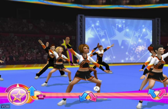In-game screen of the game All Star Cheerleader 2 on Nintendo Wii