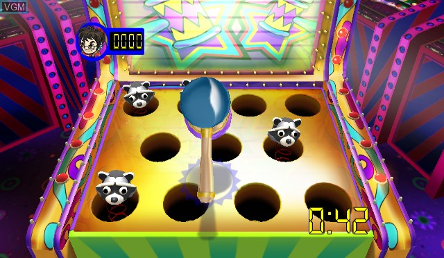 In-game screen of the game Arcade Zone on Nintendo Wii