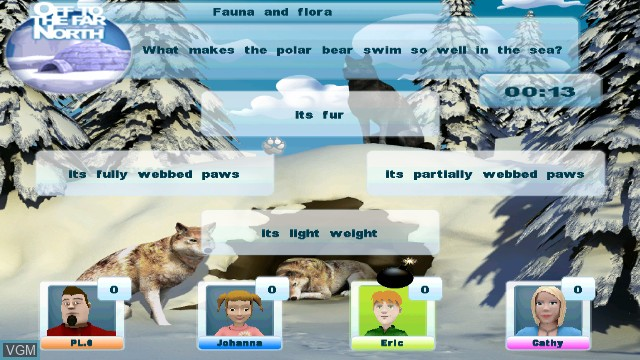 In-game screen of the game L'esprit du Loup on Nintendo Wii