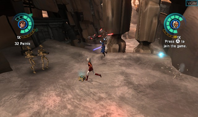 In-game screen of the game Star Wars - The Clone Wars - Republic Heroes on Nintendo Wii