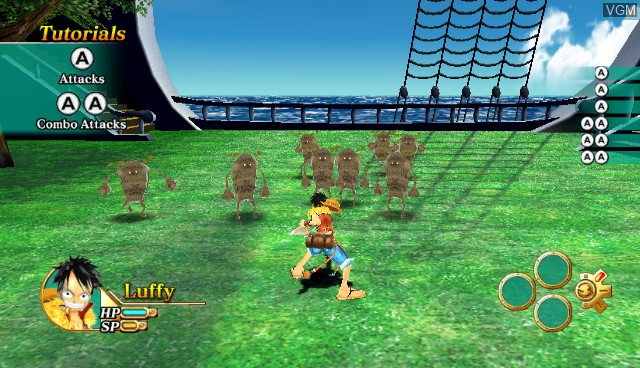 In-game screen of the game One Piece Unlimited Cruise 2 - Awakening of a Hero on Nintendo Wii