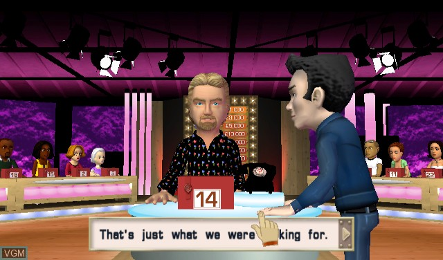 In-game screen of the game Deal or No Deal - The Banker Is Back on Nintendo Wii